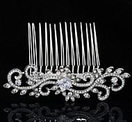 strass e zircão princesa tiara pente de cabelo para dama de honra de casamento das mulheres