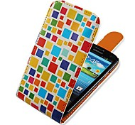 For Samsung Galaxy Case Flip / Pattern Case Full Body Case Geometric Pattern PU Leather Samsung S3