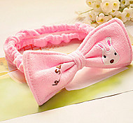 Cartoon Bowknot Sugar Rabbit Bandeau Cosmetic Bath Face Hair Band