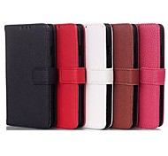 Litchi Stria Texture Belt Buckle TPU and PU Full Body Case with Card for LG F70 (Assorted Colors)