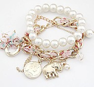 Women's Strand Bracelet Alloy Imitation Pearl
