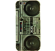 Tape Recorder Pattern Smooth Surface TPU Soft Back Cover for iPhone 6