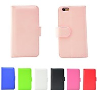 PU Leather Flip Stand Wallet Folio Case Cover for iPhone 6(Assorted Color)