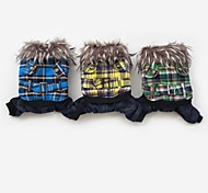 Cute Winter Clothes With Fur Collar For Dogs Pets(Assorted Sizes,Colors)