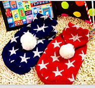 Dog Sweater Red / Blue Winter Stars