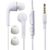 df blanco placa azul 3.5mm In-Ear auriculares con control de línea para Samsung S4 / S5 todos los teléfonos Andriod
