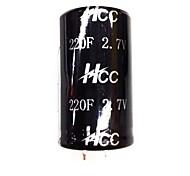 ZnDiy-BRY 2.7V/220F Super Electrolytic Capacitors - Black