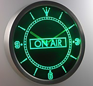 nc0327 On Air Studio Recording Neon Sign LED Wall Clock