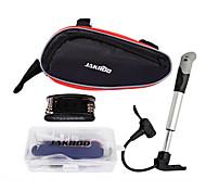 Jakroo Multi-Functional Bike Repair Tool Kit Including Tire Repair Kit and Pump