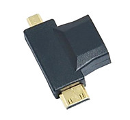3-in-1 HDMI naar Micro HDMI Mini HDMI Adapter Converter
