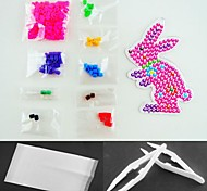 Rose Rabbit 5mm Fuse Beads Kit Hama Beads(Suitable Color Beads Set+Pegboard+Ironing Paper+Tweezer)