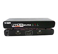 High Speed HDMI V1.3 1X2 HDMI Splitter(1 in 2 out) Support 1080P