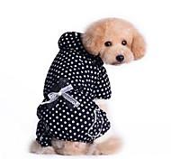 Dog Coat Red / Black / Pink Winter Polka Dots / Bowknot