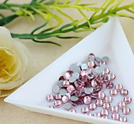 2.4*2.5mm (Pink) Flat Back Rhinestones (Phone Beauty) Nail bedazzle 100 pieces