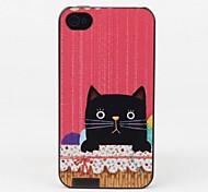 style de chat noir affaire de protection pour iPhone 4 / 4S
