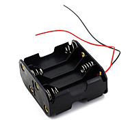 8pcs batterie AA batteria (12v) Box Holder clip nero