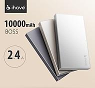 ihave® jefe energía móvil 10000 mah baterías de polímero recargable del cargador portátil