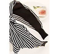 Fashion Wide Vertical Stripes Bow Headband