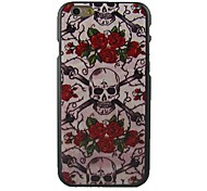 Rose and Skulls Design Pattern Hard Cover for iPhone 6