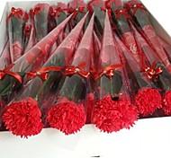 PC 1 flores de jabón vacaciones regalos claveles forma (color al azar)