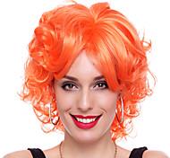 Wild Queen Orange Synthetic Fiber 30cm Women's Halloween Party Wig