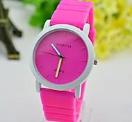 Women's Fashion Jelly Quartz Watch Ladies Dress Wrist Watches Rubber Strap (Assorted Colors)
