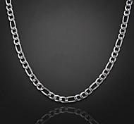 50cm, 8 mm, de espesor grueso collar de cadena plateado figaro cadena de los hombres, se desvanecen incómodo
