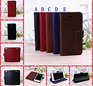 Solid Color Full Body Leather Case with Stand for iPhone 6
