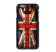 Personalized Case UK Flag Keep Calm Design Metal Case for iPhone 6 Plus