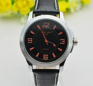 Men's Quartz Watch Waterproof Sports Military Wrist Watches Leather Band (Assorted Colors)