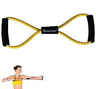 KYLIN SPORT™ Yellow Resistance Band Tube Fitness Muscle Workout Exercise Yoga Cord Elastic 8 Type