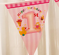 Multicolor Happy Baby Shower Birthday Flag Banner Party Accessory