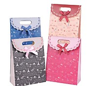 Coway 16.5*12.5*6 Fashion Beautiful Cartoon Velcro Closure Party Paper Gift Bag(Assorted Color)