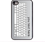 personalisierte Fall Tastatur-Design Metallkasten für iphone 4 / 4s
