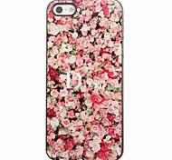 Rote Rosen-Muster Aluminium Hard Case für iPhone 4/4S