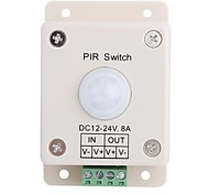 8A 1-Channel Human Body PIR Induction Switch for LED Strip Lamp  (DC 12V-24V)