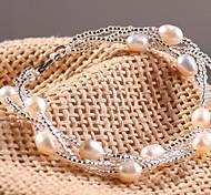 Women's Chain Bracelet Pearl Pearl