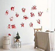 ZOOYOO® Cute Colorful PVC Removable several christmas man of Wall Stickers Hot Selling Wall Decals For Home Decor
