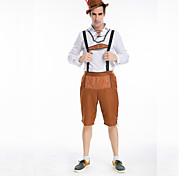 chico bávaro alemán pantalones de cuero oktoberfest carnaval costumefor cosplay de los hombres de la cerveza