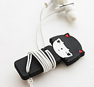 Little Girl Cartoon Earphone Cable Wire Cord Organizer Cable Winder
