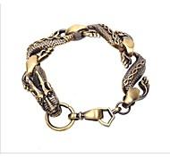 Chinese dragon Alloy Charm Bracelet 2PC