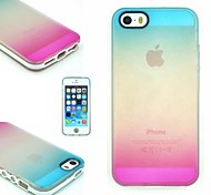 TPU+PC Two in One Blue/Rose Gradient Back Cover Case for iPhone 5/5S