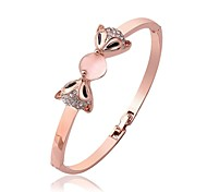 Fashion Tin Alloy 18K Gold Plated Women Fox Bangles (1 Pc)