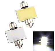 merdia feston 2w épi 6000k 110lm 31mm 12SMD a mené la lumière blanche froide pour éclairage de plaque d'immatriculation de voiture / lampe de lecture