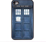 Personalized Gift Police Box Design Metal Case for iPhone 4/4S