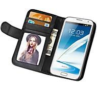 billetera toque suave, de cuero PU para Samsung Galaxy Note 2 n7100