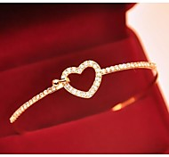 Love Is Your Fashion Hollow Out Full Drill Love Bangle Bracelet