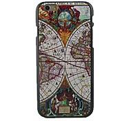 capa dura mapa padrão de design para iphone 6
