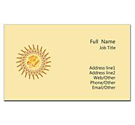 Business Card 200pcs 2 Sides Printed Black And Orange Pattern