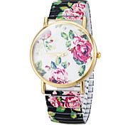Frauen Blütenfarbe Wählen Die Elastic Blumen-Band-Quarz-Armband-Uhr (verschiedene Farben)
